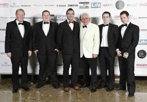 Press Eye - 12th November 2014 2014 Pubs awards at the Lamon Hotel. Vincent Daly, Enda Daly, Eugene Daly, Jimmy Johnston,Aaron Daly and Niall Daly Picture by Stephen Hamilton / Press Eye.