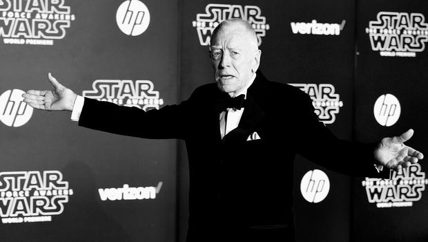 """HOLLYWOOD, CA - DECEMBER 14:  (Editors Note: Image altered using digital filters). Actor Max von Sydow attends The Premiere Of Walt Disney Pictures And Lucasfilm's """"Star Wars: The Force Awakens"""" on December 14, 2015 in Hollywood, California.  (Photo by Frazer Harrison/Getty Images)"""