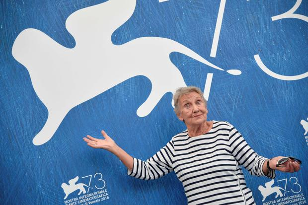 "Actress Ingrid Burkhard attends a photocall of the movie ""Die Einsiedler"" (The Eremites) presented in the Orizzonti selection at the 73rd Venice Film Festival on September 2, 2016 at Venice Lido.TIZIANA FABI/AFP/Getty Images"