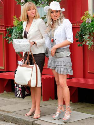 Rita Simons with Samantha Womack in EastEnders