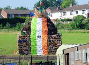 Pacemaker press 11/7/13  The Bonfire in Ballyduff on the outskirt's of Belfast  on the 11th of july. picture mark marlow