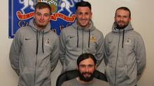 Glenavon boss Gary Hamilton welcomes new signings Dylan Davidson, Danny Purkis and Conan Byrne to Mourneview Park.