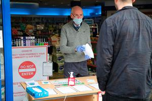 Staff at the Medicare Pharmacy on the Belfast's Ormeau Road