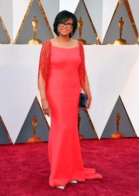 President of the Academy of Motion Picture Arts and Sciences Cheryl Boone Isaacs arrives at the Oscars on Sunday, Feb. 28, 2016, at the Dolby Theatre in Los Angeles. (Photo by Jordan Strauss/Invision/AP)