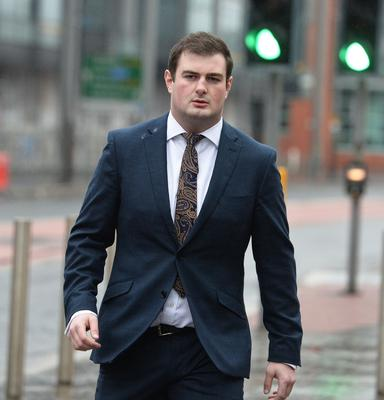 PACEMAKER BELFAST 10/03/2018:  Rory Harrison arrives at Laganside Magistrates court this morning.  Picture By: Pacemaker.