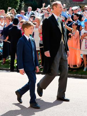 The Earl of Wessex (right) and James, Viscount Severn arrives at St George's Chapel at Windsor Castle for the wedding of Meghan Markle and Prince Harry. PRESS ASSOCIATION Photo. Picture date: Saturday May 19, 2018. See PA story ROYAL Wedding. Photo credit should read: Gareth Fuller/PA Wire
