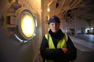 Press Eye - Belfast - Northern Ireland - 28th April 2016  - Photo by Kelvin Boyes / Press Eye   Captain John Rees OBE, the man responsible for the restoration of HMS Caroline, gave the media a sneak preview of the almost completed works, four weeks before the ship opens to the public. HMS Caroline is the last remaining floating survivor of the May 31 1916 Battle of Jutland. 10,000 Irishmen joined the Royal Navy in World War One and 300 perished at Jutland.