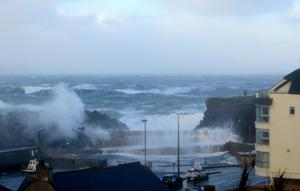 Strong waves battered the north coast on Wednesday. Pic Evelyn McCullough