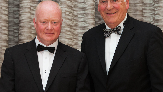 Suit up: Club president William Munnis and Bill Kennedy MBE