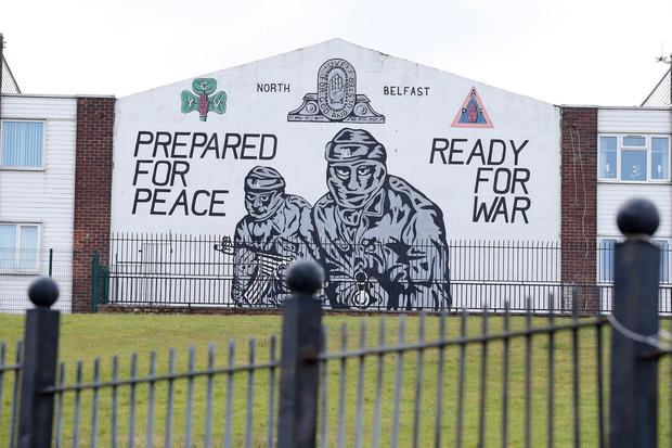 A loyalist paramilitary mural in north Belfast.