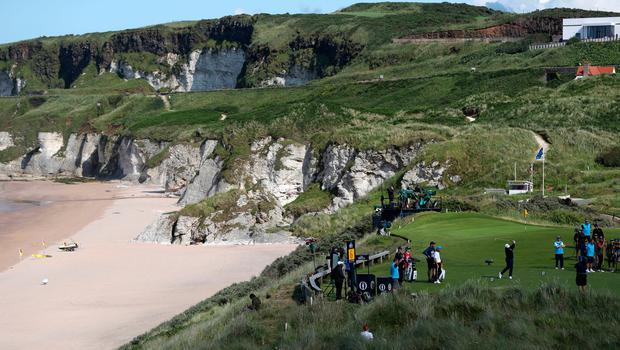 England's Lee Westwood tees off the 6th during day three of The Open Championship 2019 at Royal Portrush Golf Club. PRESS ASSOCIATION Photo. Picture date: Saturday July 20, 2019. See PA story GOLF Open. Photo credit should read: David Davies/PA Wire. RESTRICTIONS: Editorial use only. No commercial use. Still image use only. The Open Championship logo and clear link to The Open website (TheOpen.com) to be included on website publishing.