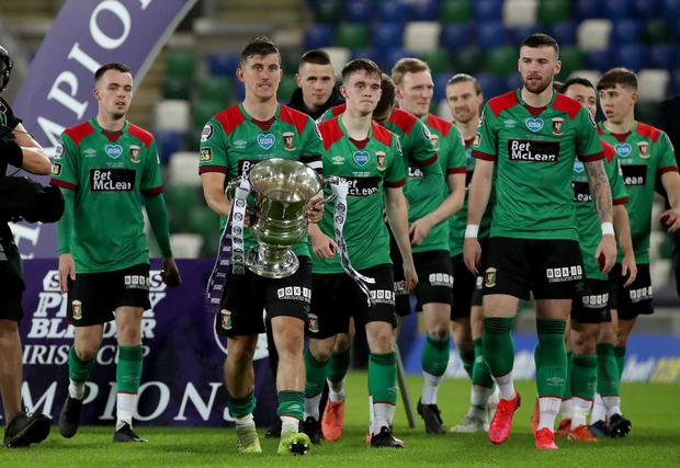 Glentoran won last year's Irish Cup with a final victory over Ballymena United.