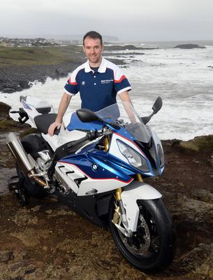 Aiming high: Alastair Seeley will go for his 16th win at the NW200 with the Royal Air Force BMW team