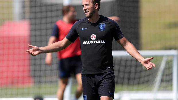 The new England captain during the training session at St George's Park