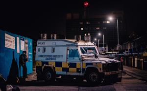 Police at the scene of a shooting incident in the Hopewell Crescent area of Belfast on February 22nd 2021 (Photo by Kevin Scott for Belfast Telegraph)