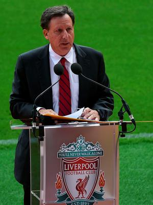 Liverpool's Chairman Tom Werner speaks during the ceremonial opening of Liverpool Football Club's new main stand, at Anfield stadium in Liverpool, north-west England, on September 9, 2016.  / AFP PHOTO / PAUL ELLISPAUL ELLIS/AFP/Getty Images