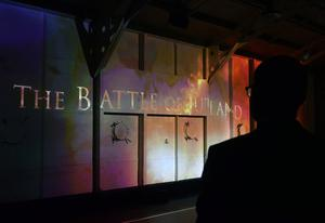 Pacemaker Press 31/5/2016 A Video is shown during The commemoration which  takes  place at HMS Caroline on the centenary of the Battle of Jutland, as Belfast hosts a special all-island commemoration for Irish sailors who died in World War One. Pic Colm Lenaghan/Pacemaker