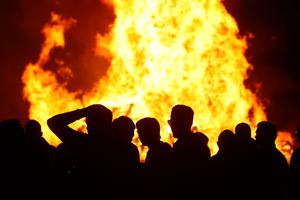 The Eleventh night bonfire is light at Moneyreagh Co.Down. Picture Colm O'Reilly Sunday Life 11-07-11