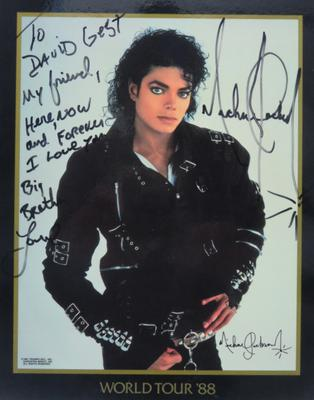 Signed photograph and dedication to David Gest from Michael Jackson (David Gest estate/PA)