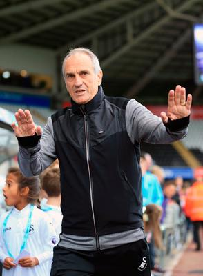 Swansea City manager Francesco Guidolin arrives for the Premier League match at the Liberty Stadium, Swansea. PA