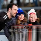 Crowd appeal: Tyrone's Niall Morgan meets young supporters after the Meath game