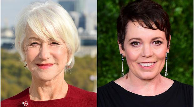 Helen Mirren and Olivia Colman (PA)