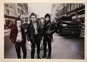 The Clash, Photograph 1977 Adrian boot taken in Belfast city centre on display at the Art of Selling songs exhibition at the Ulster Museum. Pic by Peter Morrison