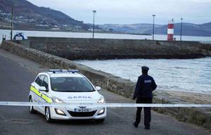 Francis Crawford Who raised the alarm,  at the Scene at the Pier in Buncrana Co Donegal, after Five people, including children, have died after a car went off a pier. Picture Presseye