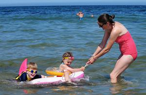 Fun on our beaches in the hot weather... Crawfordsburn