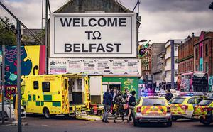Armed response officers at the scene of a stabbing incident in the Castle Street area of Belfast on September 21st 2020 (Photo by Kevin Scott for Belfast Telegraph)
