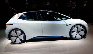 LAS VEGAS, NV - JANUARY 05:  Volkswagen's I.D., an autonomous self-driving concept vehicle is displayed at the Volkswagen booth at CES 2017 at the Las Vegas Convention Center on January 5, 2017 in Las Vegas, Nevada. CES, the world's largest annual consumer technology trade show, runs through January 8 and features 3,800 exhibitors showing off their latest products and services to more than 165,000 attendees.  (Photo by David Becker/Getty Images)