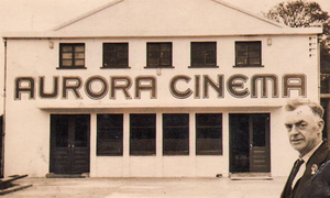 George Tinnelly outside the Aurora Cinema in Rostrevor