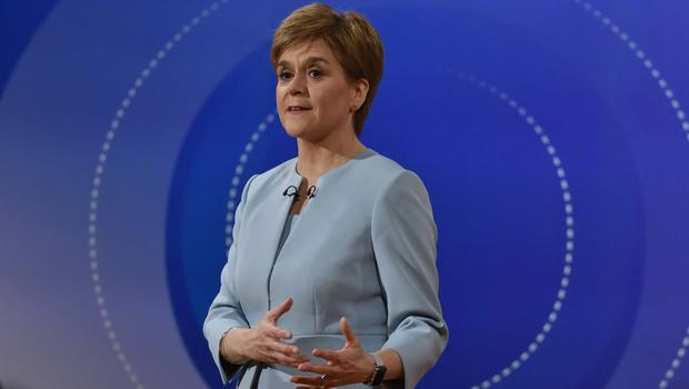 SNP leader Nicola Sturgeon during Question Time (Jeff Overs/BBC/PA)