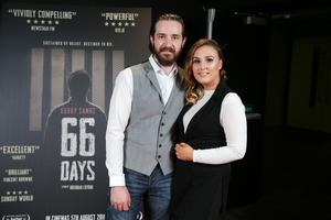 Press Eye Belfast - Northern Ireland - 31st July 2016    Paul Mullin and Cathy Church are pictured at the film premiere of Bobby Sands: 66 Days at the Omniplex Cinema at the Kennedy Centre in west Belfast.  The premiere was hosted with Féile An Phobail and West Belfast Film Festival.  Photo by Kelvin Boyes  / Press Eye