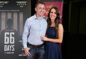 Press Eye Belfast - Northern Ireland - 31st July 2016    Aisling and Seamus Higgins are pictured at the film premiere of Bobby Sands: 66 Days at the Omniplex Cinema at the Kennedy Centre in west Belfast.  The premiere was hosted with Féile An Phobail and West Belfast Film Festival.  Photo by Kelvin Boyes  / Press Eye