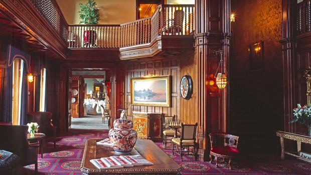 Oak Hall in Ashford Castle in County Mayo, Ireland