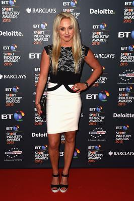 BT Sport Industry Awards...LONDON, ENGLAND - APRIL 30:  Snowboarder Aimee Fuller poses on the red carpet at the BT Sport Industry Awards 2015 at Battersea Evolution on April 30, 2015 in London, England. The BT Sport Industry Awards is the most prestigious commercial sports awards ceremony in Europe, where over 1750 of the industrys key decision-makers mix with high profile sporting celebrities for the most important networking occasion in the sport business calendar.  (Photo by Ian Gavan/Getty Images for BT Sport Industry Awards)...S