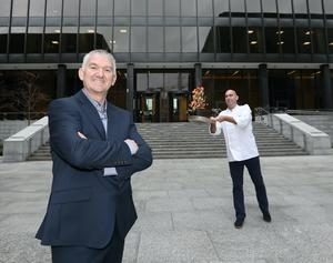 Challenge: Terry Woods, commercial director, Mount Charles and Darren Curran, executive development chef at Miesian Plaza