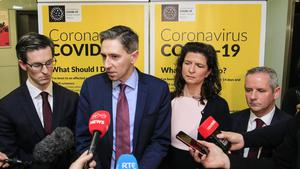 Minister for Health Simon Harris pictured in Dublin Airport where he spoke to the media regarding the outbreak and prevention of the Coronavirus in Ireland. Credit: Gerry Mooney
