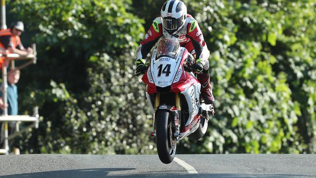In action during Monday's Isle of Man qualifying session