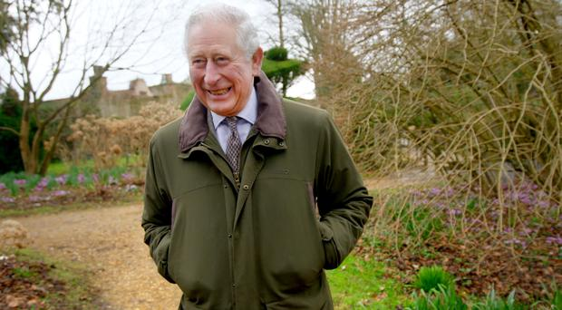 The Prince of Wales in his garden at Highgrove House within the Duchy of Cornwall estate (Prince Charles: Inside the Duchy of Cornwall/PA)
