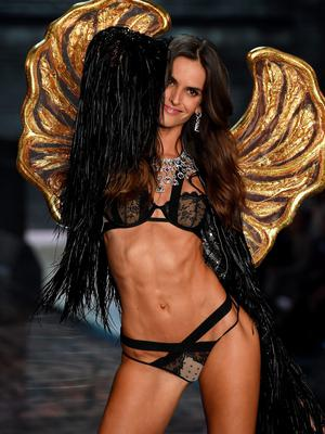 NEW YORK, NY - NOVEMBER 10:  Model Izabel Goulart from Brazil walks the runway during the 2015 Victoria's Secret Fashion Show at Lexington Avenue Armory on November 10, 2015 in New York City.  (Photo by Dimitrios Kambouris/Getty Images for Victoria's Secret)