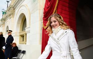 Singer Jackie Evancho arrives for the Presidential Inauguration of Donald Trump at the US Capitol in Washington, DC, January 20, 2017. / AFP PHOTO / POOL / SAUL LOEBSAUL LOEB/AFP/Getty Images