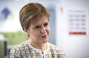 First Minister Nicola Sturgeon said it will be essential for people to follow guidance when restrictions are eased (Jane Barlow/PA)