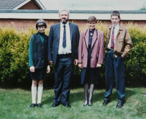 Police Officer John Torney (second left), who was convicted of murdering his wife Linda (second right), son John Jr, (right) and daughter Emma (left), and later died in prison. (PA)
