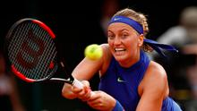 Emotional: Petra Kvitova won her first match in fine style