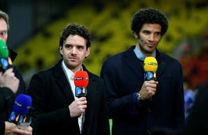 "BT Sport pundits Owen Hargreaves (left) and David James before the Barclays Premier League at Vicarage Road, London. PRESS ASSOCIATION Photo. Picture date: Wednesday February 3, 2016. See PA story SOCCER Watford. Photo credit should read: Adam Davy/PA Wire. RESTRICTIONS: EDITORIAL USE ONLY No use with unauthorised audio, video, data, fixture lists, club/league logos or ""live"" services. Online in-match use limited to 75 images, no video emulation. No use in betting, games or single club/league/player publications."