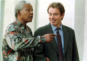 File photo dated 26/10/1997 of South African President Nelson Mandela and Prime Minister Tony Blair at St Andrews, the former South African president has died aged 95, the country's president Jacob Zuma said tonight. PRESS ASSOCIATION Photo. Issue date: Thursday December 5, 2013. See PA story DEATH Mandela. Photo credit should read: Owen Humphreys/PA Wire