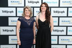 Press Eye - Belfast - Northern Ireland - 2nd May 2019 -   Heather and Megan Hamill pictured at the Belfast Telegraph Business Awards in association with Ulster Bank at the Crowne Plaza Hotel, Belfast. Photo by Kelvin Boyes / Press Eye.