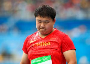 RIO DE JANEIRO, BRAZIL - AUGUST 12:  Yang Gao of China competes in the Women's Shot Put qualification on Day 7 of the Rio 2016 Olympic Games at the Olympic Stadium on August 12, 2016 in Rio de Janeiro, Brazil.  (Photo by Cameron Spencer/Getty Images)